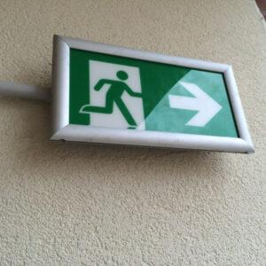 segnale uscita di emergenza